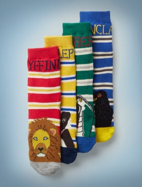 4 Pack Harry Potter Socks