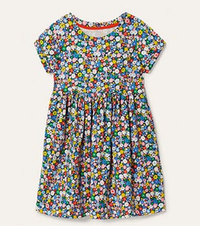 Fun Jersey Dress - Elizabethan Blue Flowerpatch