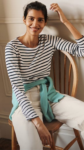 Three Ways To Wear a Classic Breton Top