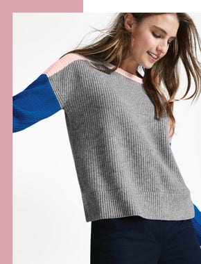 The colourblock jumper
