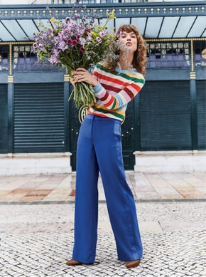 Exeter Wide Leg Trousers