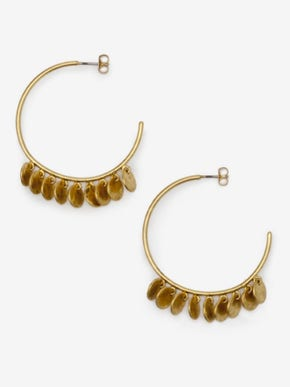 Dainty Disc Hoop Earrings