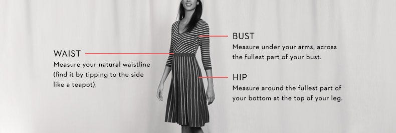 Women's Size Guide - How To Measure