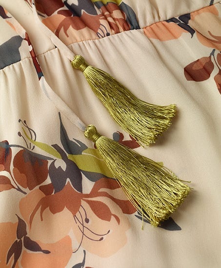 tassel dress detail