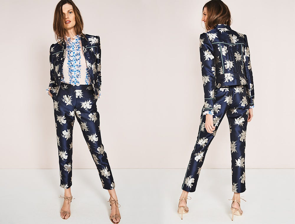 Marina Jaquard Jacket and 7/8 trousers